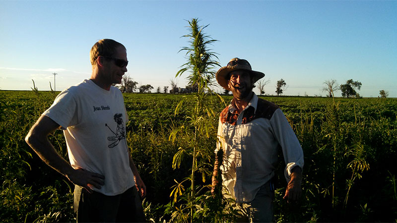 Doug Fine with Ryan Loflin in Colorado